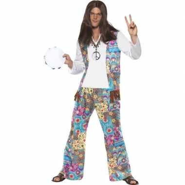 Jaren 60 hippie kostuum groovy voor heren