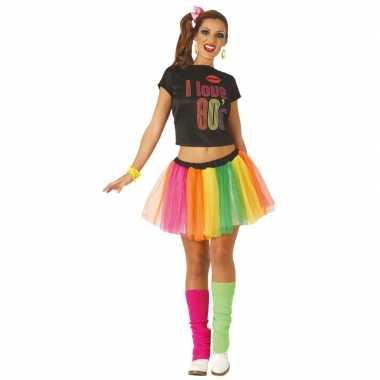 Jaren 80/80s verkleed kostuum/jurk voor dames