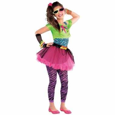 098e27cb2df3f3 Jaren 80 disco kostuum feestkleding voor meisjes 10-12 jaar ...
