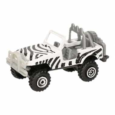 Jeep safari speelgoedauto zebra print 7 cm