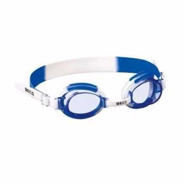 Jongens duikbrillen blauw siliconen bandje