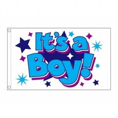 Jongens geboorte vlag 90 x 150 cm