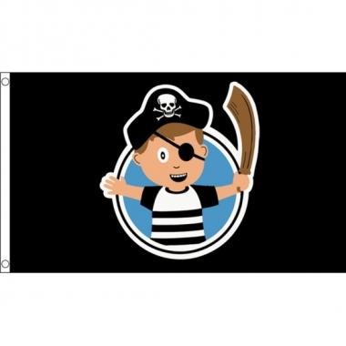 Jongens piratenvlag 150 x 90 cm