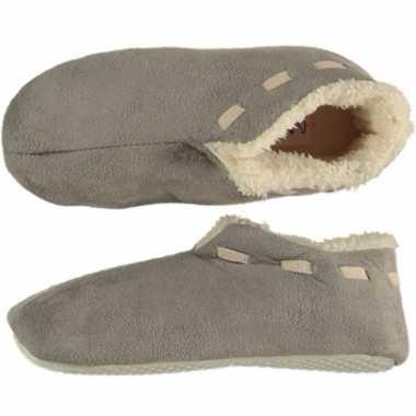 Jongens spaanse sloffen/pantoffels grijs maat 35-36