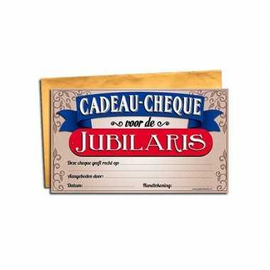Jubilaris gift cheque