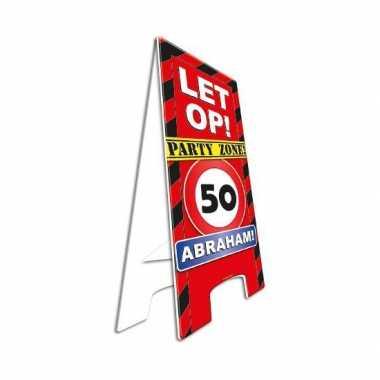 Jubileum bord abraham 50 jaar