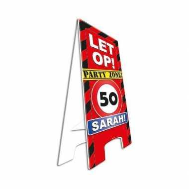 Jubileum bord sarah 50 jaar