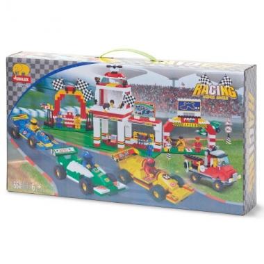 Jubilux bouwstenen set race thema