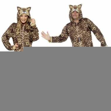 Jumpsuit luipaard all-in-one voor volwassenen
