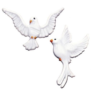 Kaars versiering witte duif