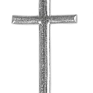 Kaars versiering zilveren kruis 4 cm
