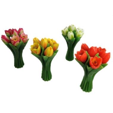 Kaarsen in de vorm van tulpen 22cm