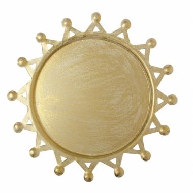 Kaarsen onderbord goud 16 cm