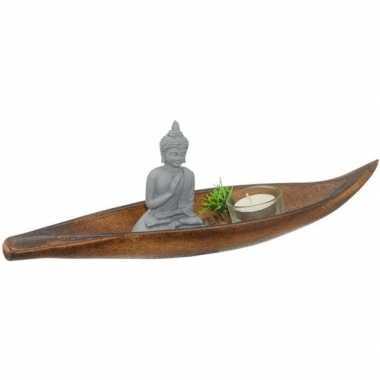 Kaarsenset met boeddha 6-delig