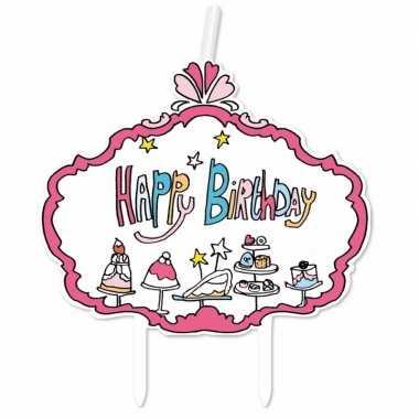 Kaarsje happy birthday verjaardag