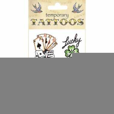 Kaarten plak tattoos