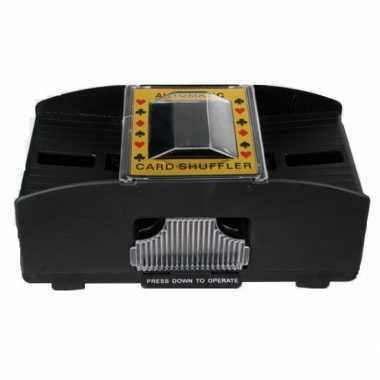Kaartenschudmachine op batterijen