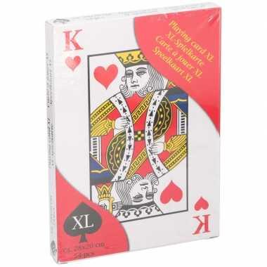 Kaartspellen extra groot 28 x 20 cm