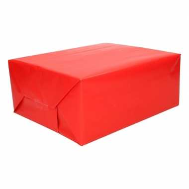 Kadopapier fel rood 200 cm