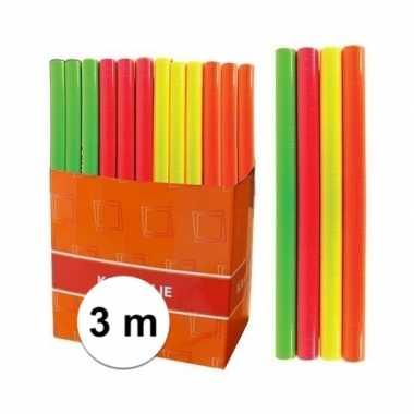 Kaftpapier folie schoolboeken neon groen 3 meter