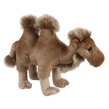 Kamelen speelgoed artikelen kameel knuffelbeest bruin 28 cm