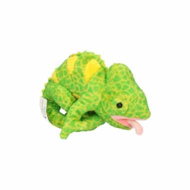 Kameleon knuffeldier 19 cm