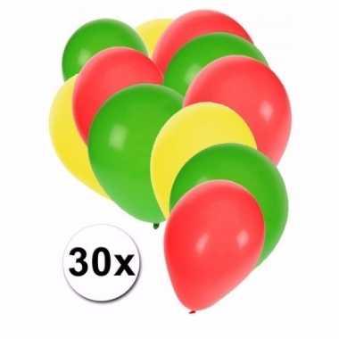 Kameroense feest ballonnen 30 st