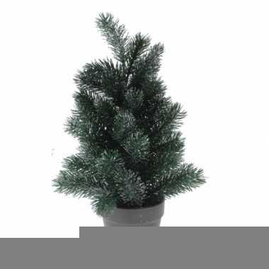 Kantoor kerstboom zilveren glitters 40 cm