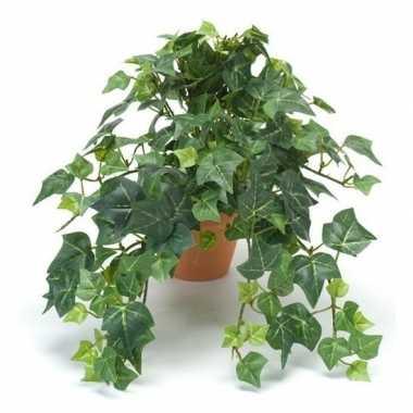 Kantoor kunstplant klimop groen in terracotta pot 30 cm