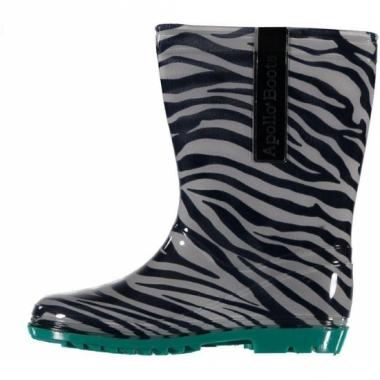 Kaplaarzen met zebra motief voor kinderen