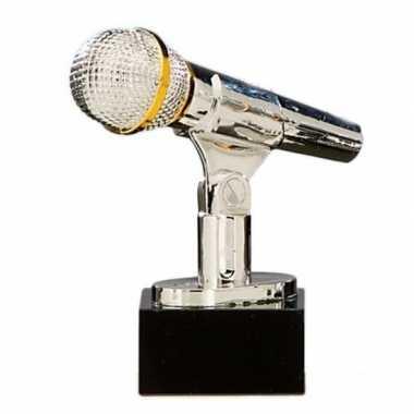 Karaoke winnaar trofee zilver