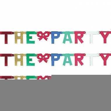 Kartonnen banner letters a