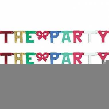 Kartonnen banner letters b