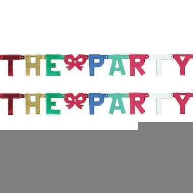 Kartonnen banner letters r