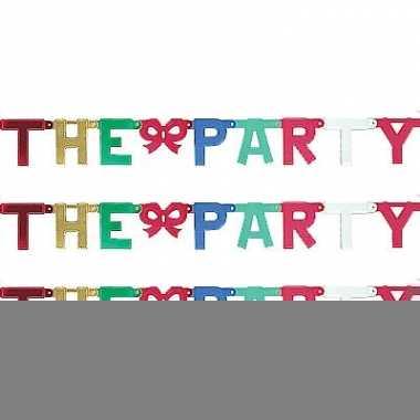 Kartonnen banner letters v