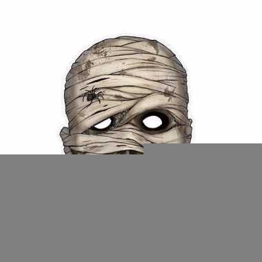 Kartonnen horror masker mummie 21 x 29 cm