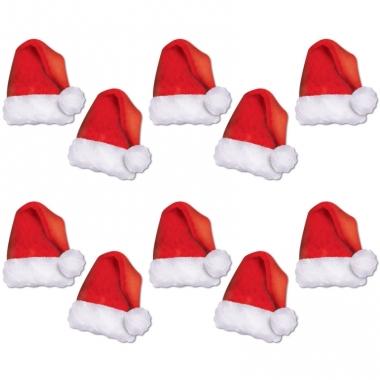 Kartonnen kerstmutsjes 10 stuks