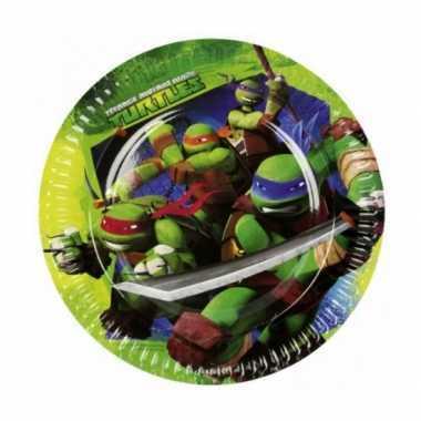 Kartonnen ninja turtles bordjes 23 cm