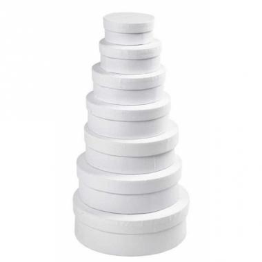 Kartonnen ronde doos wit 8,5 cm