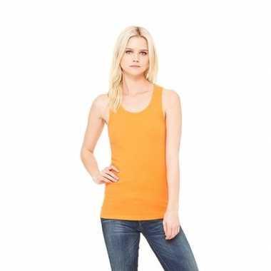 Katoenen dames topje oranje