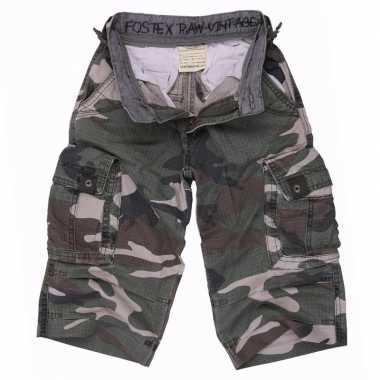 Katoenen korte camouflage broek voor kids