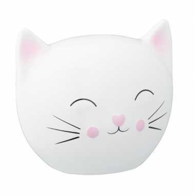 Katten liefhebbers spaarpot wit 15 cm