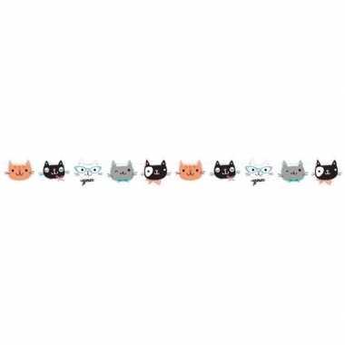 Katten/poezen thema slinger 170 cm