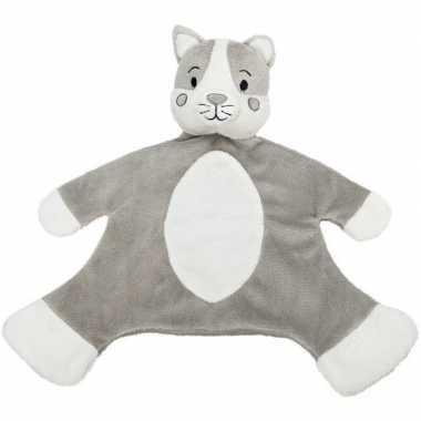 Katten speelgoed artikelen kat/poes tuttel/knuffeldoek knuffelbeest g