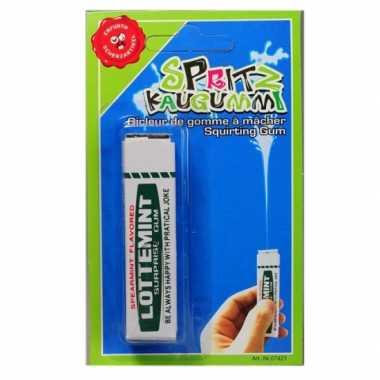 Kauwgom met waterspuit