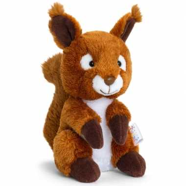 Keel toys bruine pluche eekhoorn knuffel 14 cm