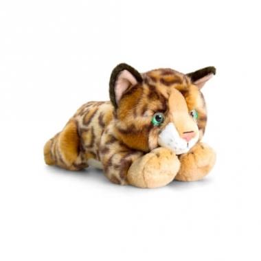Keel toys pluche bengaalse katten/poezen knuffel 30 cm