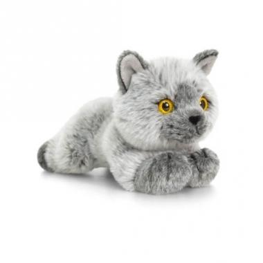 Keel toys pluche britse korthaar katten/poezen knuffel 30 cm