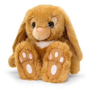 Keel toys pluche bruine konijnen knuffel 25 cm