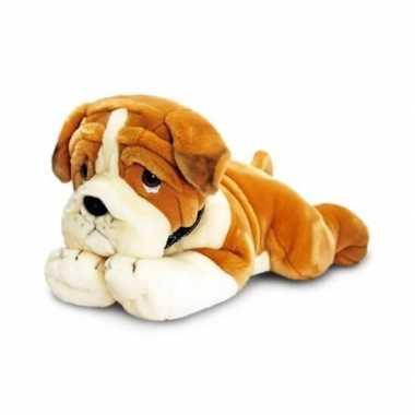 Keel toys pluche bulldog honden knuffel 50 cm
